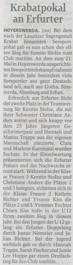 Krabatpokal an Erfurt