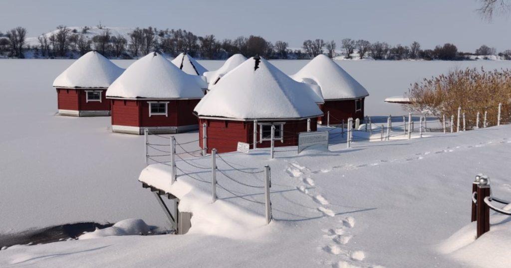 Zuckerhüte auf den Schwimmenden Hütten