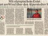 Mit olympischen Geist hart am Wind…